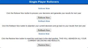 single-player rollover menu