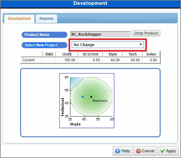 MikesBikes Intro Product Development Screen