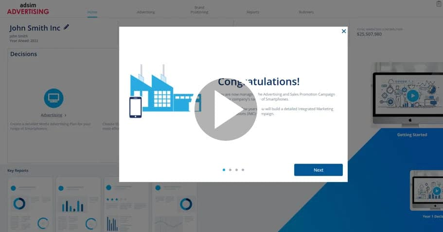 AdSim Advertising Simulation Getting Started Video