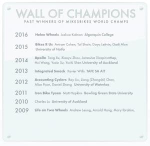 List of all the MikesBikes World Champions