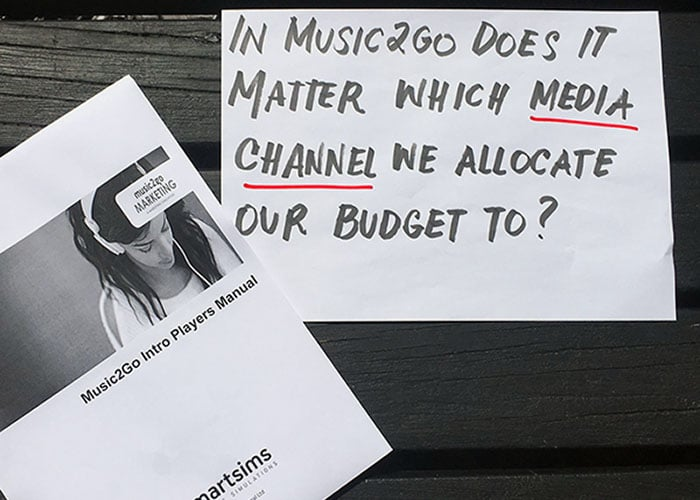 Music2Go Question about allocating marketing budget