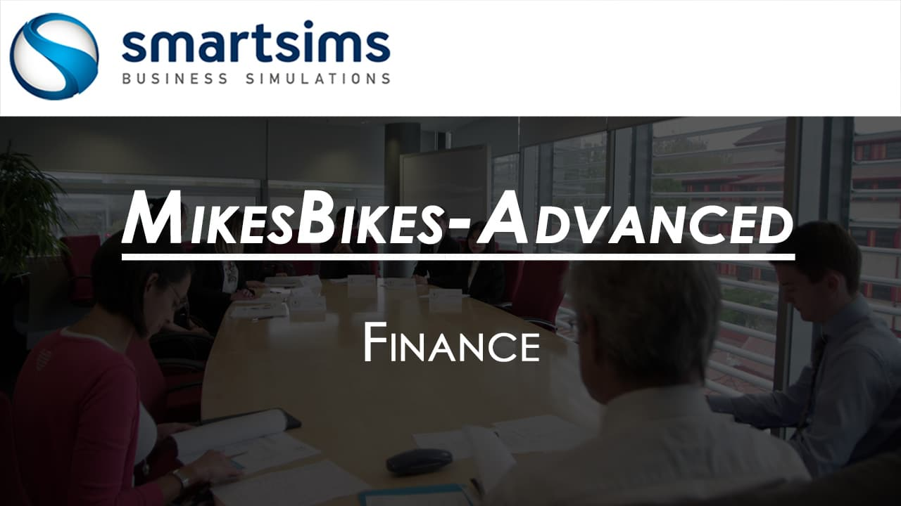 Video Preview with text overlaying 'MikesBikes-Advanced: Finance Overview'