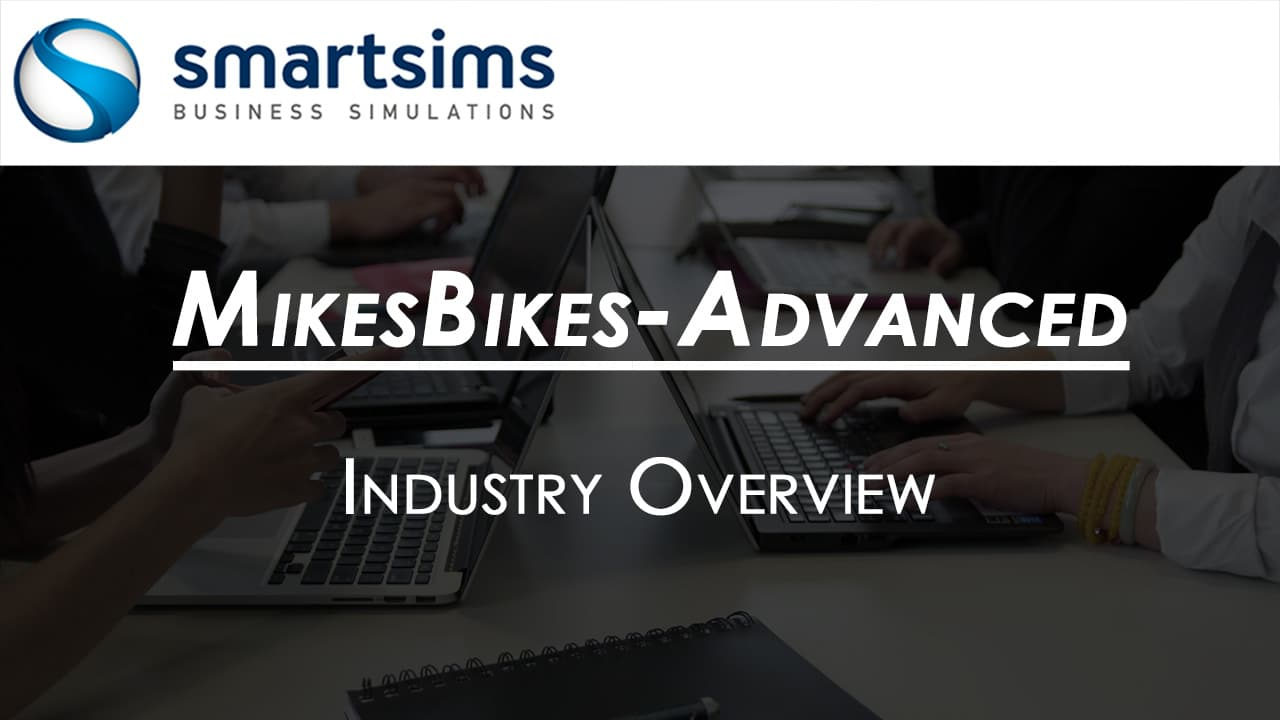 Video Preview with text overlaying 'MikesBikes-Advanced: Industry Overview'