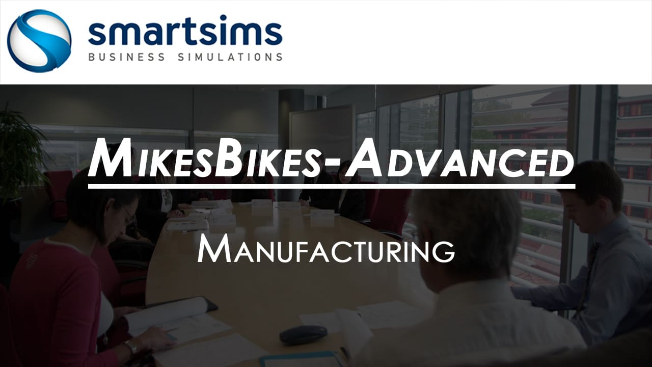 Video Preview with text overlaying 'MikesBikes-Advanced: Manufacturing Overview'
