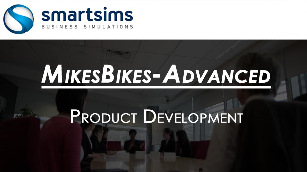 Video Preview with text overlaying 'MikesBikes-Advanced: Product Development Overview'
