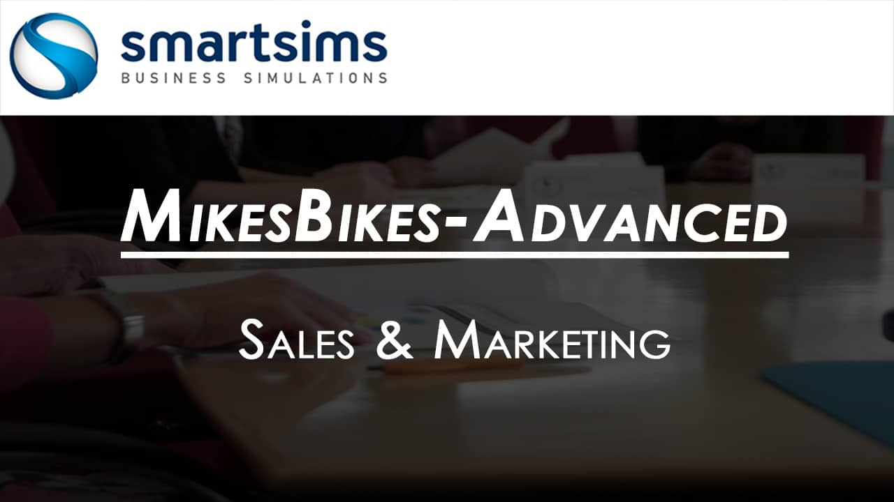 Video Preview with text overlaying 'MikesBikes-Advanced: Sales and Marketing'