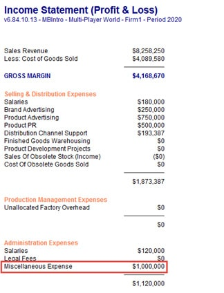 Income Statement Screenshot