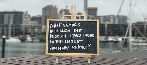factors influencing the product specs index