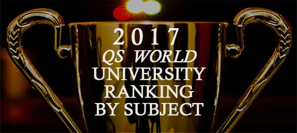 trophy photo with QS world university ranking label