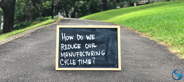 reduce manufacturing cycle time text in a blackboard