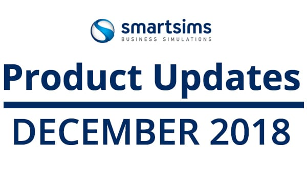 SMARTSIMS PRODUCT UPDATES: December 2018